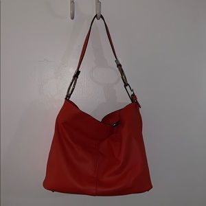 Zara Red Leather Hobo Bag NEVER WORN